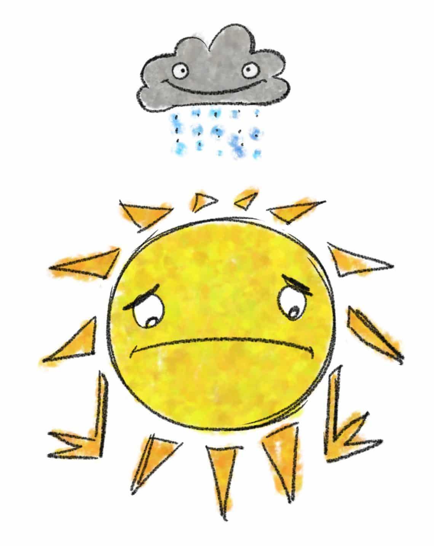 Kyle Boyd Sad Sun Happy Rain Cloud